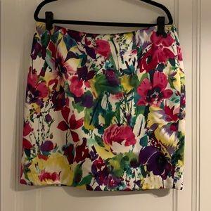 Beautiful watercolor floral skirt
